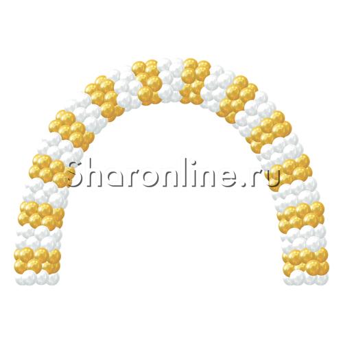 """Фото №1: Арка из шаров """"Свадебная"""" стандартная"""
