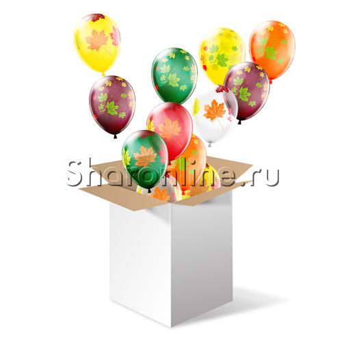 """Фото №1: Большая коробка-сюрприз """"Кленовые листья"""""""
