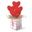 Фото №2: Большая коробка-сюрприз с премиум сердцами 41см