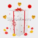 Фото №4: Большая коробка-сюрприз с премиум сердцами 41см