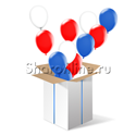 """Фото №1: Большая коробка-сюрприз """"Триколор"""""""