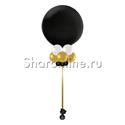 Фото №1: Большой Черный шар с украшением