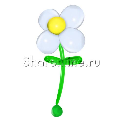Фото №1: Большой цветок из шаров белого цвета