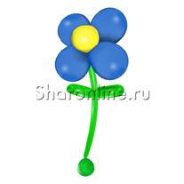 Большой цветок из шаров синий