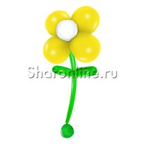 Большой цветок из шаров желтый