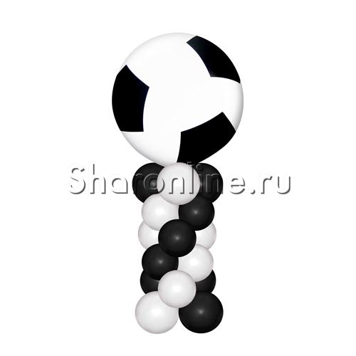 Фото №1: Большой футбольный мяч на столбике