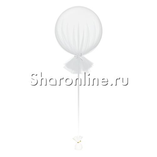 Фото №1: Большой шар белый в фатине 80 см