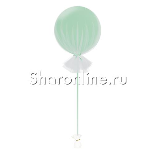 Фото №1: Большой шар мятный в фатине 80 см