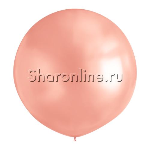 Фото №1: Большой Шар Розовое золото 80 см