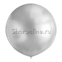 Большой шар серебряный 80 см
