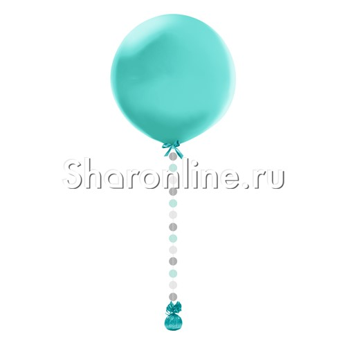 "Фото №1: Гигантский шар тиффани с подвеской ""Голубой микс"""
