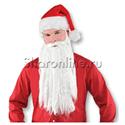 """Фото №1: Борода """"Деда Мороза"""" 40 см"""
