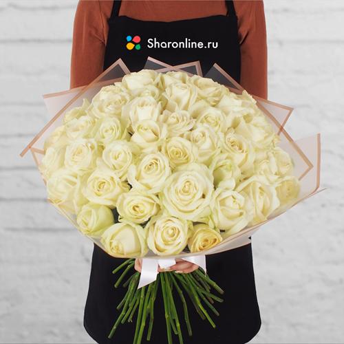 Фото №1: Букет белых роз
