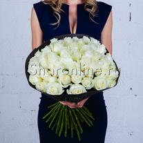 Букет белых роз Премиум