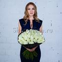 Фото №2: Букет белых роз Премиум