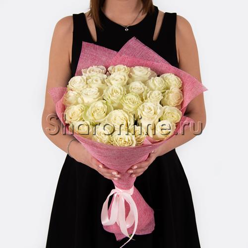 Фото №3: Букет белых роз Премиум