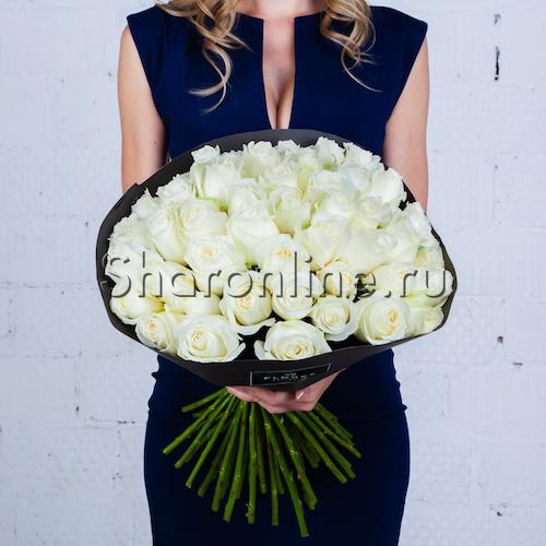 Фото №4: Букет белых роз Премиум