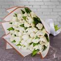 Фото №1: Букет белых тюльпанов