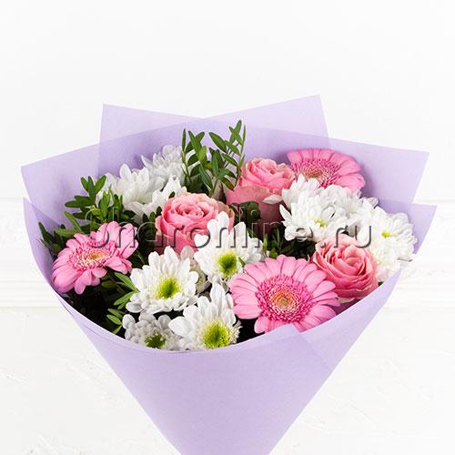 """Фото №2: Букет цветов """"Розовая нежность"""""""