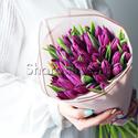 Фото №1: Букет фиолетовых тюльпанов