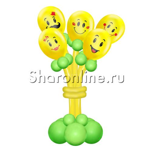 """Фото №1: Букет из шаров """"Смайлики"""""""