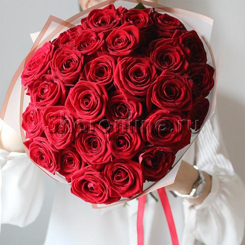 Фото №1: Букет красных роз