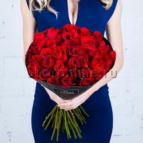 Фото №1: Букет красных роз Премиум