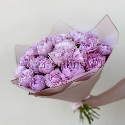 Фото №2: Букет нежно-розовых пионов
