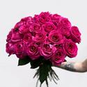 Фото №1: Букет роз цвета фуксия Премиум