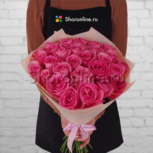 Фото №1: Букет розовых роз