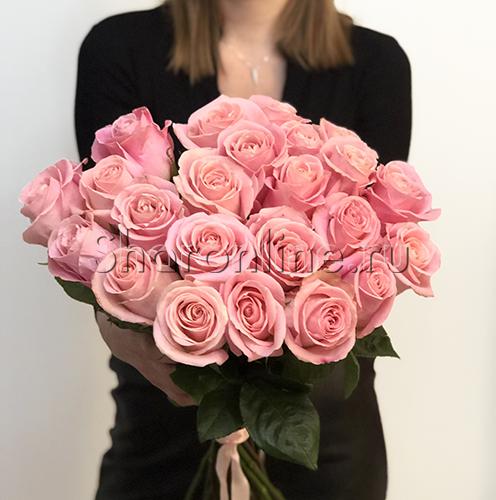 Фото №1: Букет розовых роз Премиум