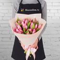 Фото №1: Букет розовых тюльпанов