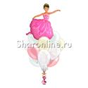 "Фото №1: Букет шаров ""Балерина"""