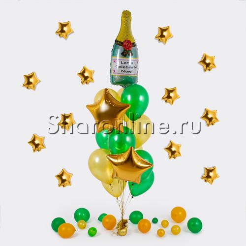 """Фото №1: Букет шаров """"Брызги шампанского"""""""