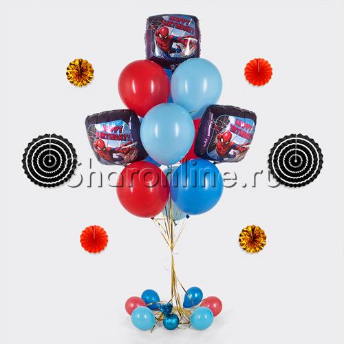"""Фото №1: Букет шаров """"Человек-Паук"""""""