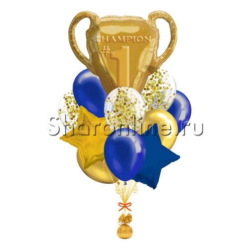 """Фото №1: Букет шаров """"Чемпион"""""""