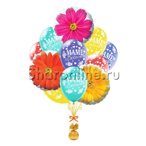 """Фото №2: Букет шаров """"Цветы для мамы"""""""