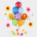 """Фото №1: Букет шаров """"Цветы для мамы"""""""