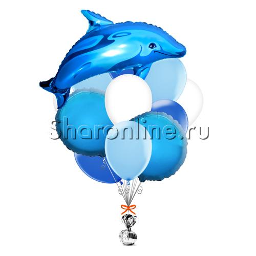 """Фото №1: Букет шаров """"Дельфин"""""""