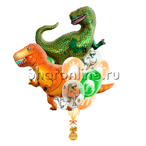 """Фото №1: Букет шаров """"Динозавры"""""""