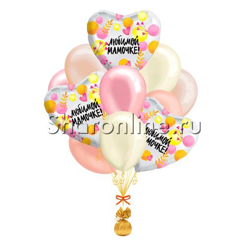 """Фото №1: Букет шаров """"Для любимой мамочки"""""""
