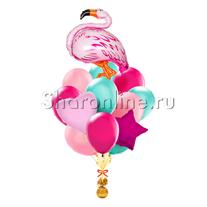 """Букет шаров """"Фламинго"""""""