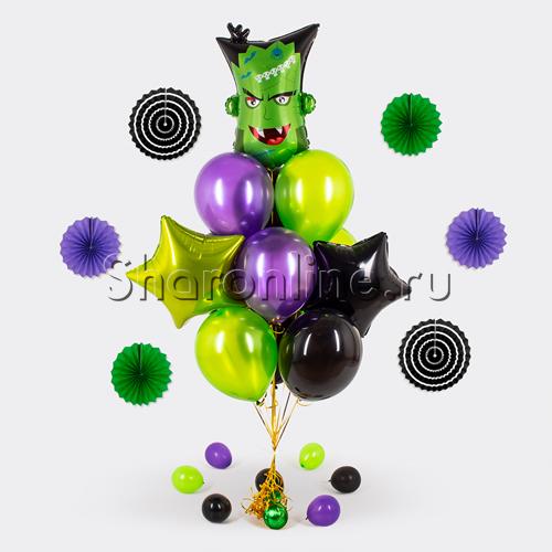 """Фото №1: Букет шаров """"Франкенштейн"""""""