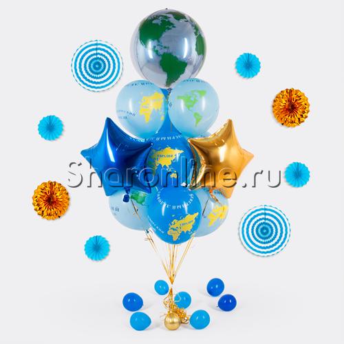 """Фото №1: Букет шаров """"Глобус"""""""