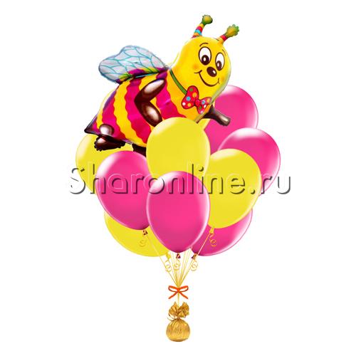 """Фото №1: Букет шаров """"Медовое настроение"""""""