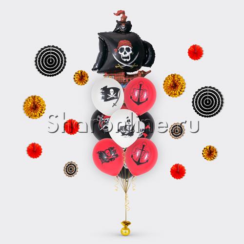 """Фото №1: Букет шаров """"Настоящий пират"""""""