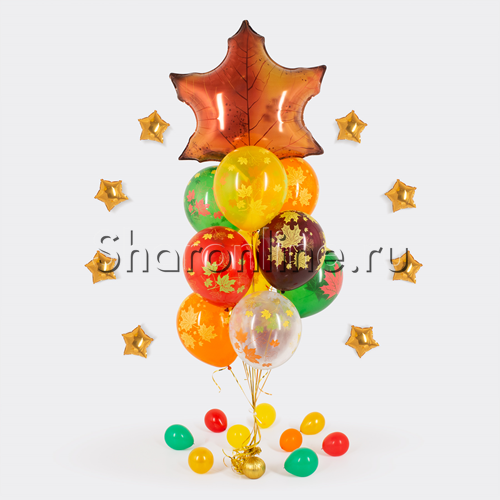"""Фото №1: Букет шаров """"Осеннее настроение"""""""