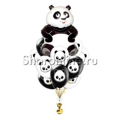 """Фото №1: Букет шаров """"Панда"""""""