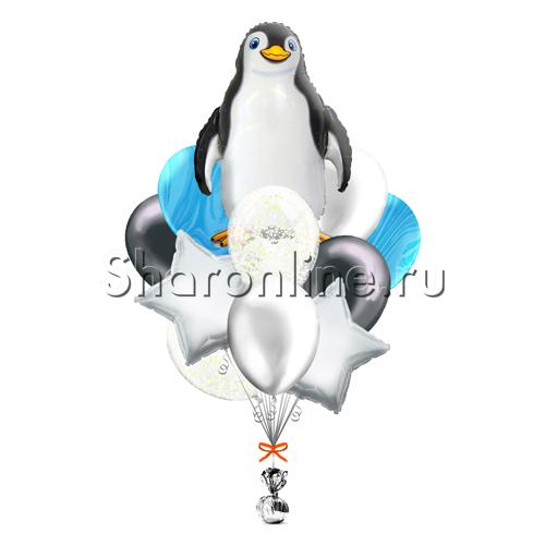 """Фото №1: Букет шаров """"Пингвин"""""""