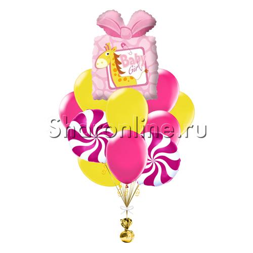 """Фото №1: Букет шаров """"Подарочек для девочки"""""""